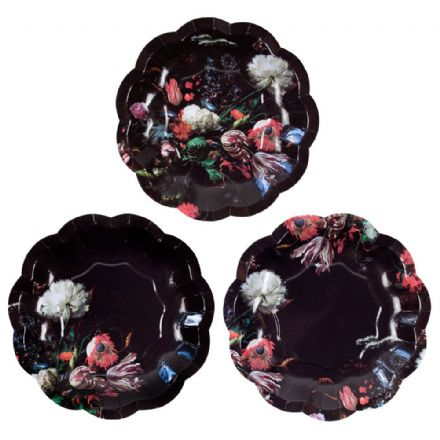 Baroque Small Party Plates - pack of 12